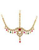 Multi Colour Gold Finish Kundan Hair Jewellery