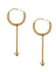 Adorable Gold Finish Simple Hath Phool Bracelets
