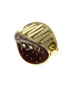 Maroon Colour Gold Finih Party Wear Hair Grip Pin