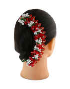 Designer Red Colour Fancy Hair Pin