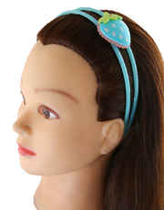 Turquiose Colour Fashionable Hair Band For Girls