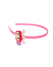 Pink Colour Fancy Kitty Styled Hair Band