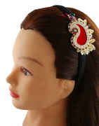 Red Colour Brooch Hair Band For Girls