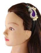 Violet Colour Gold Finish Fancy Hair Accessories