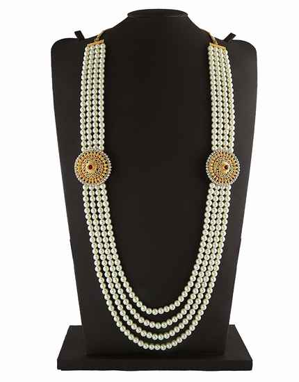 Round Shape Gold Finish Designer Groom Mala