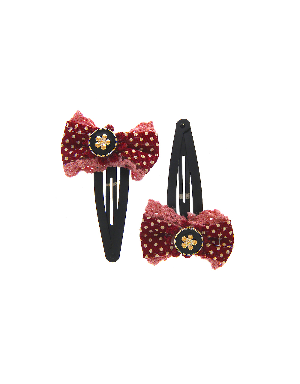 Maroon Colour Hair Side Pin