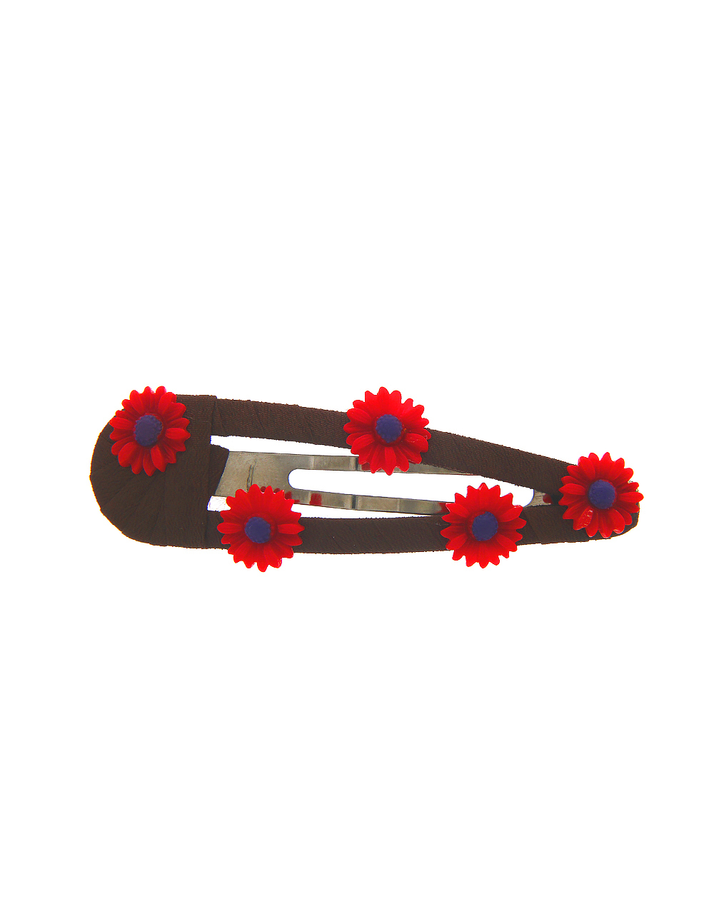 Floral Design Red Colour Fancy Hair Pin