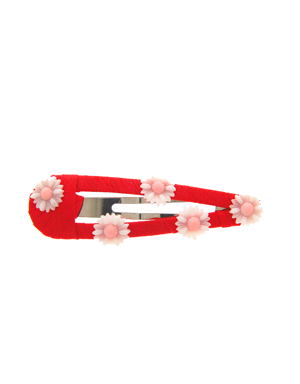 Red Colour Fancy Floral Design Hair Pin
