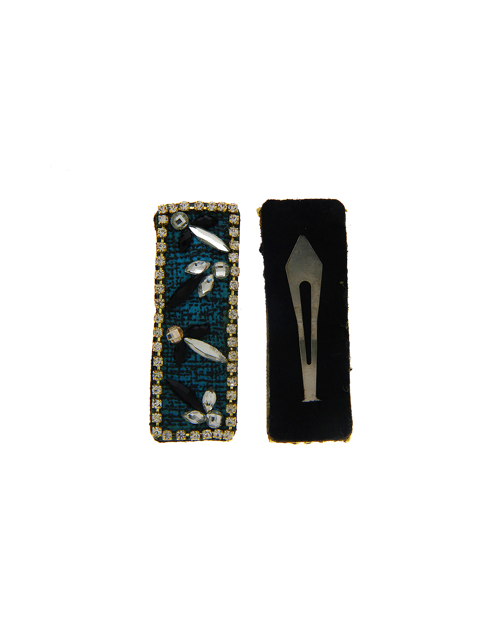 Blue Colour Gold Finish Fancy Hair Pin For Party Wear