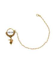 Floral Design Gold Tone Bridal Nose Ring