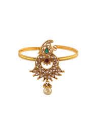 Gold Finish Designer Bajuband For Women