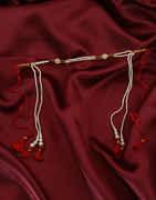Red Colour Pearls Styled Fancy Designer Bashing Mundavali