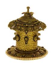 Antique Finish Floral Design Sindoor Box