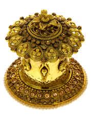 Gold Finish Kumkum Sindoor Box