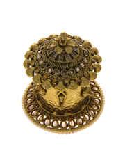 Antique Gold Finish Fashionable Sindoor Box Dabbi
