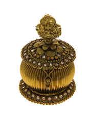 Gold Finish Stylish Kumkum Box