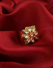 Very Classy Designer Gold Finish Fancy Finger Ring