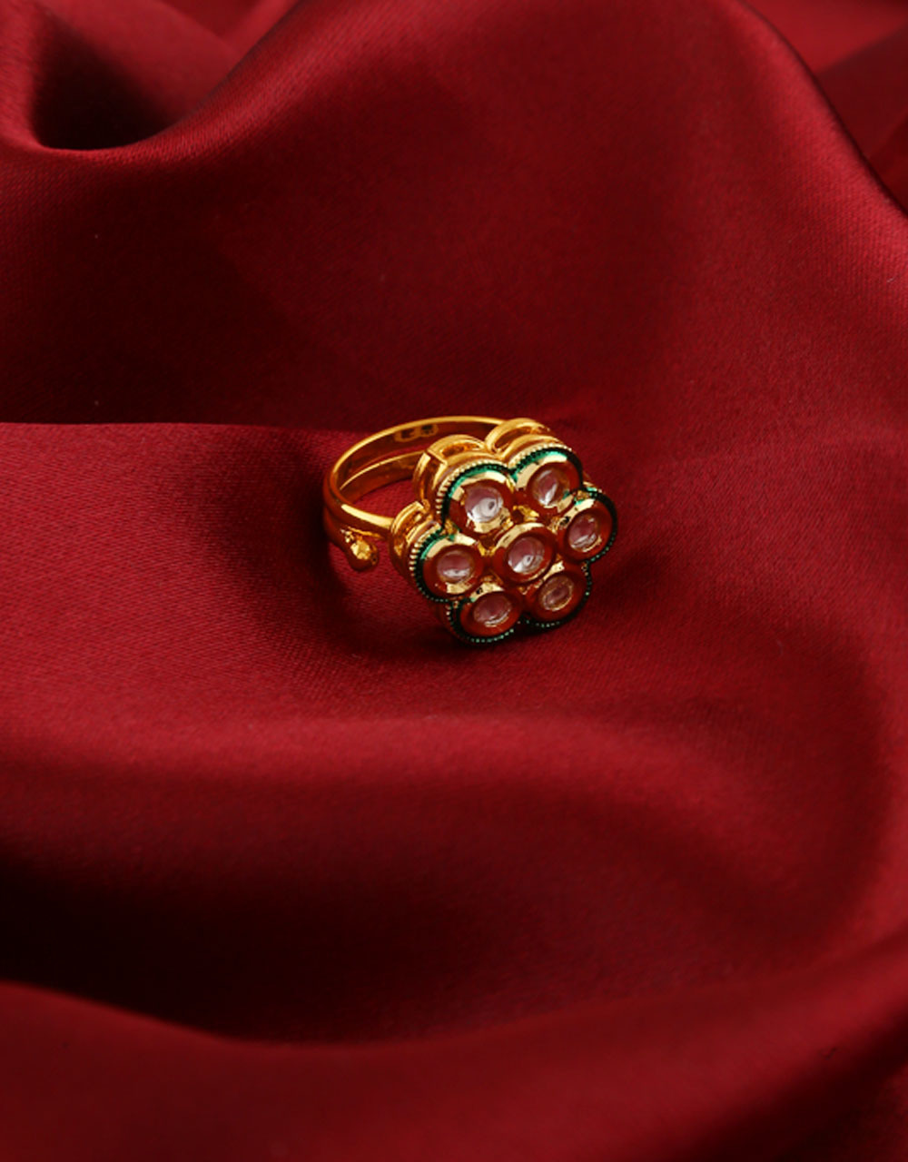 Gold Finish Simple Traditional Finger Ring