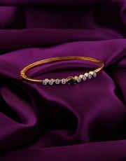 Blue Colour Designer Gold Finish Simple Kada