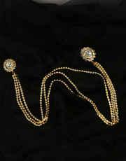 Gold Finish Designer Brooch For Wedding