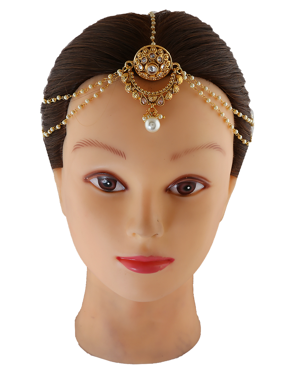 Adorable Gold Tone Forehead Jewellery For Wedding