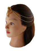 Floral Design Gold Finish Borla Hair Matha Patti