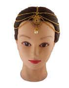 Designer Gold Finish Borla Matha Patti Hair Jewellery