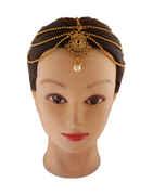 Gold Finish Matha Patti Hair Accessories For Women Fancy