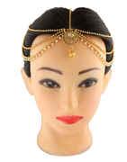 Floral Design Gold Finish Stylish Matha Patti