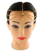 Gold Finish Fancy Hair Accessories For Women Fancy