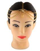 Floral Design Gold Finish Designer Hair Accessories