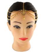 Gold Finish Designer Matha Patti For Women Fancy