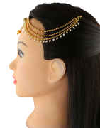 Antique Gold Finish Fancy Matha Patti For Women Fancy
