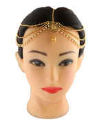 Fashionable Gold Finish Styled With Pearls Beads Matha Patti