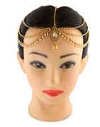 Gold Finish Hair Matha Patti For Girls Fancy