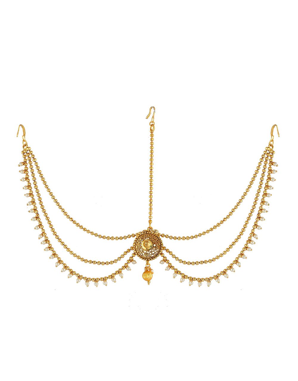 Antique Gold Finish Hair Accessories