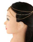 Designer Gold Finish Hair Jewellery For Women