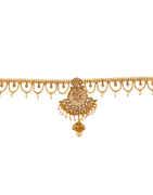 Antique Gold Finish Layered Kamarpatta Fancy
