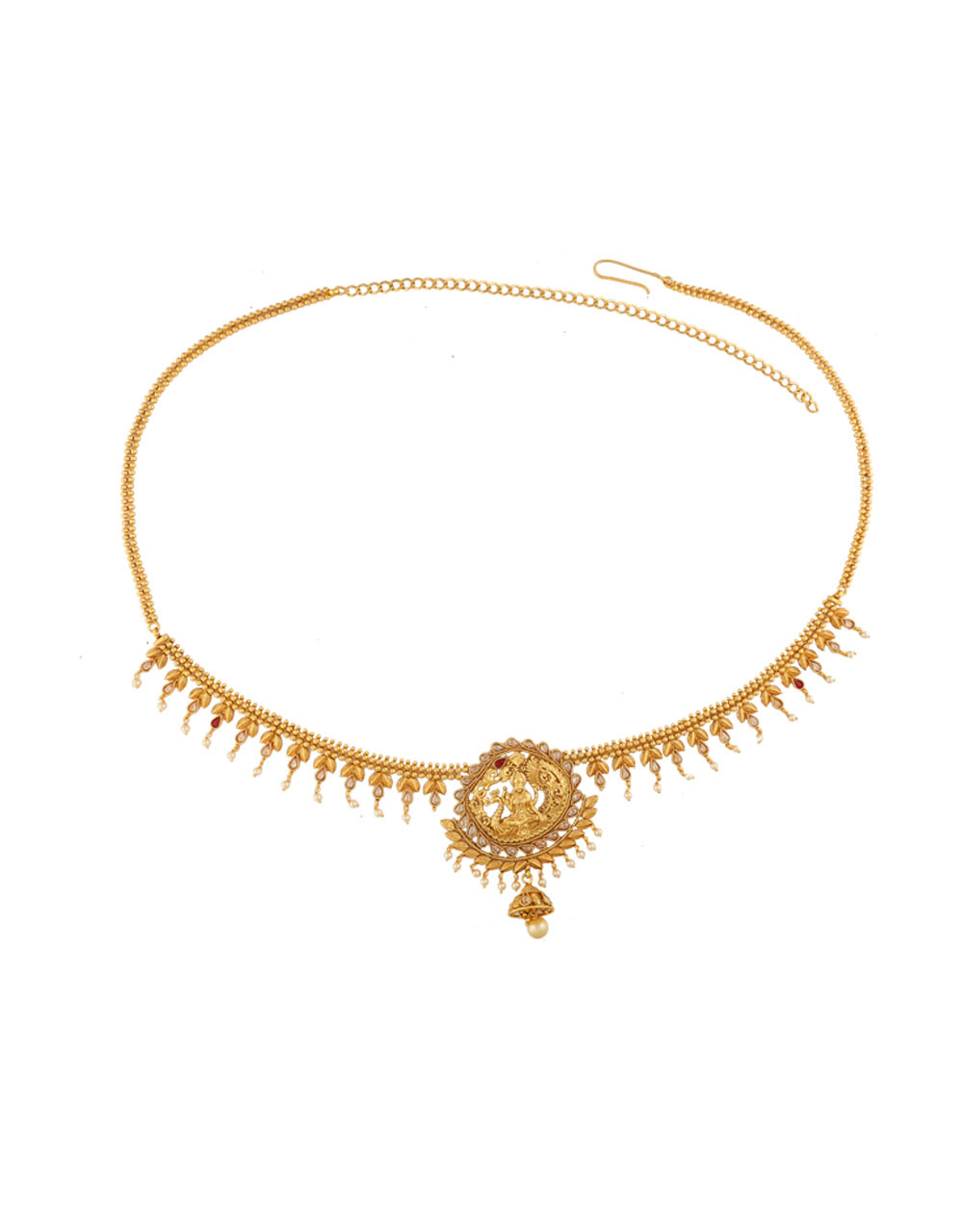 Temple Design Gold Finish Kamarbandh For Women