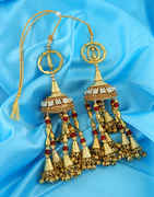 Antique Gold Finish Kaleera Styled With Beads Designer Kalire