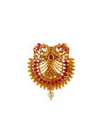 Rani Colour Matte Gold Finish Designer Ambada Pin