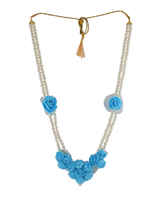 Turquiose Colour Moti Necklace For Haldi
