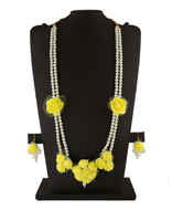 Yellow Colour Floral Design Flower Jewellery Necklace