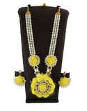 Yellow Colour Baby Shower Haldi Jewellery
