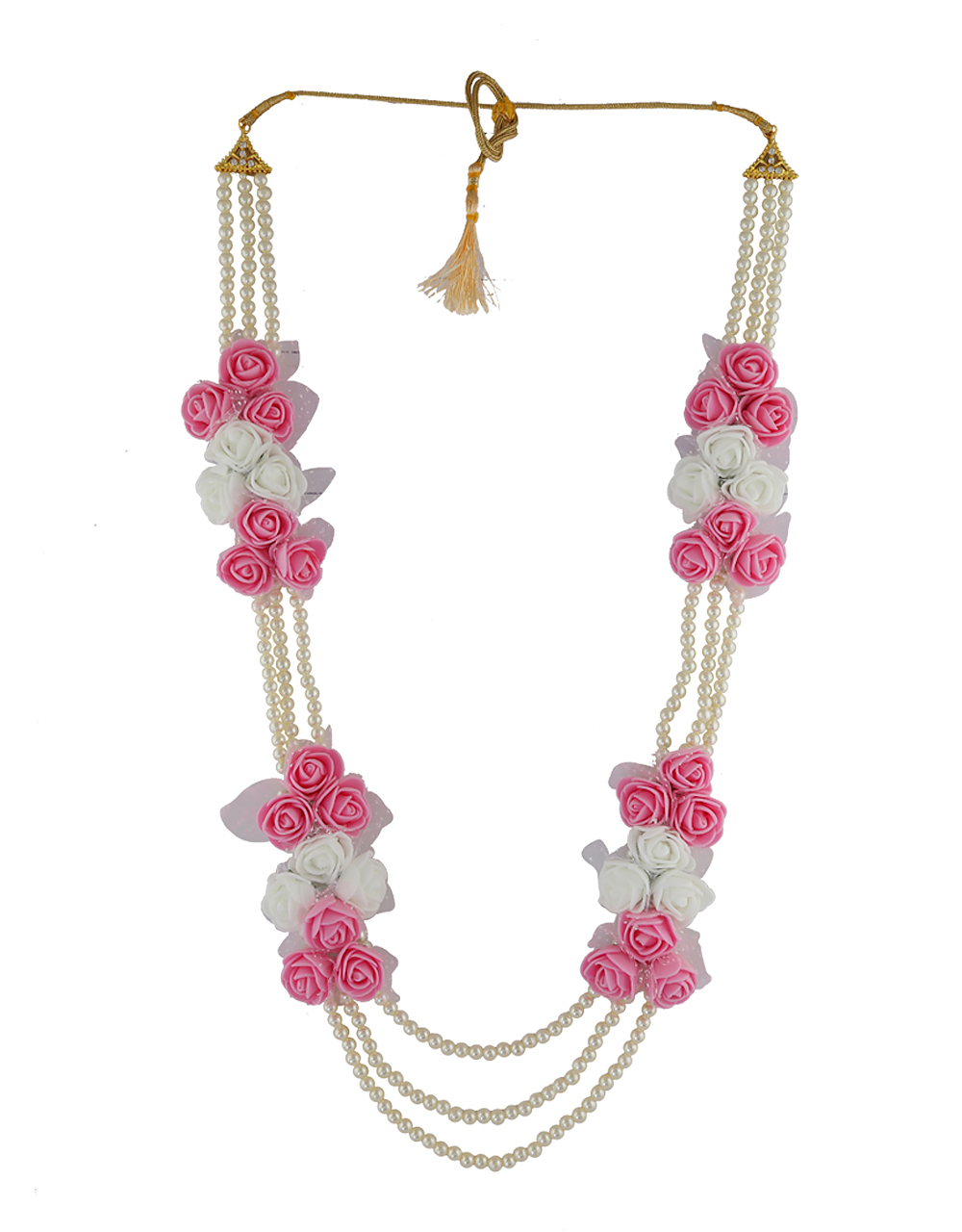 Baby-Pink Colour Baby Shower Flower Jewellery