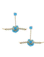 Blue Colour Flower Artificial Flower Jewellery