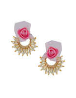 Pink Colour Floral Design Haldi Jewellery
