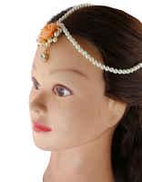 Orange Colour Fashionble Jewellery Set For Haladi