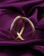 Rani Colour Gold Finish Bangles For Girls