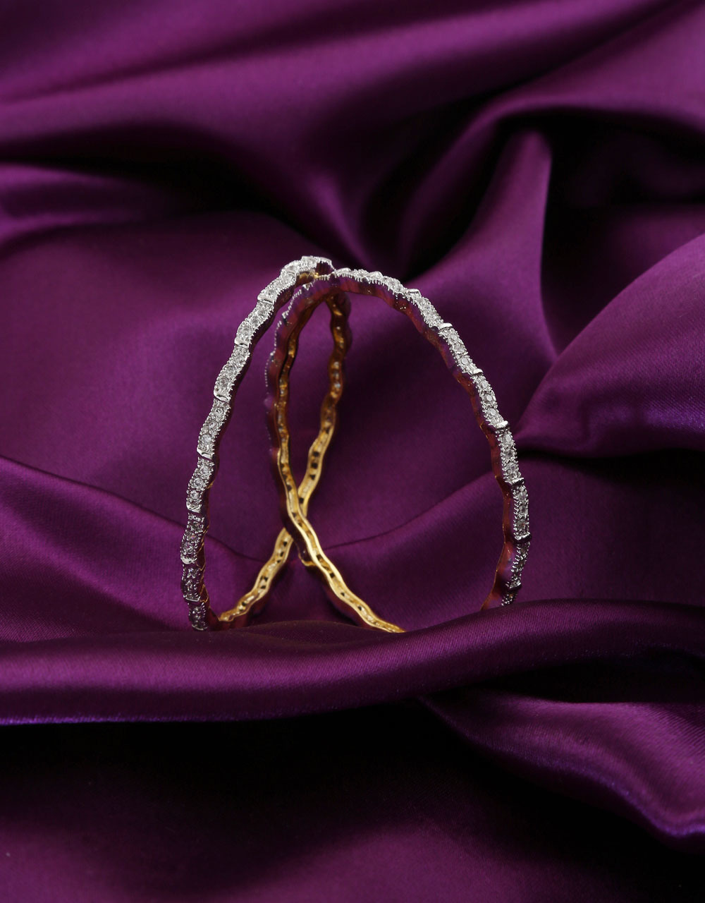 Simple Gold Tone Very Classy Bangles For Fancy